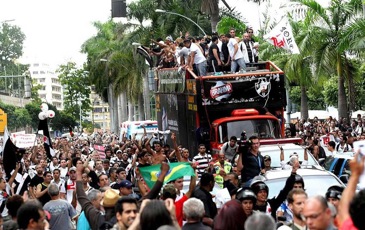 Vasco festeja título da Copa do Brasil