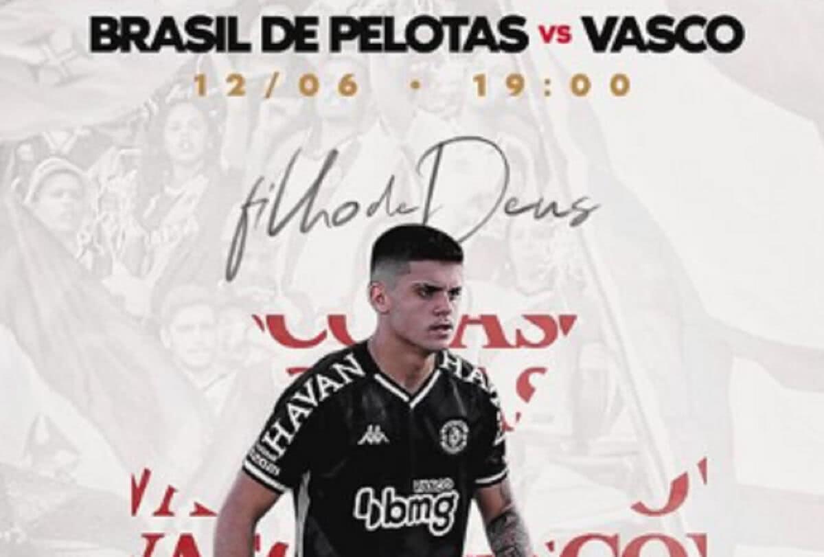 Imagem postada por Gabriel Pec sobre Brasil de Pelotas x Vasco pela Série B 2021