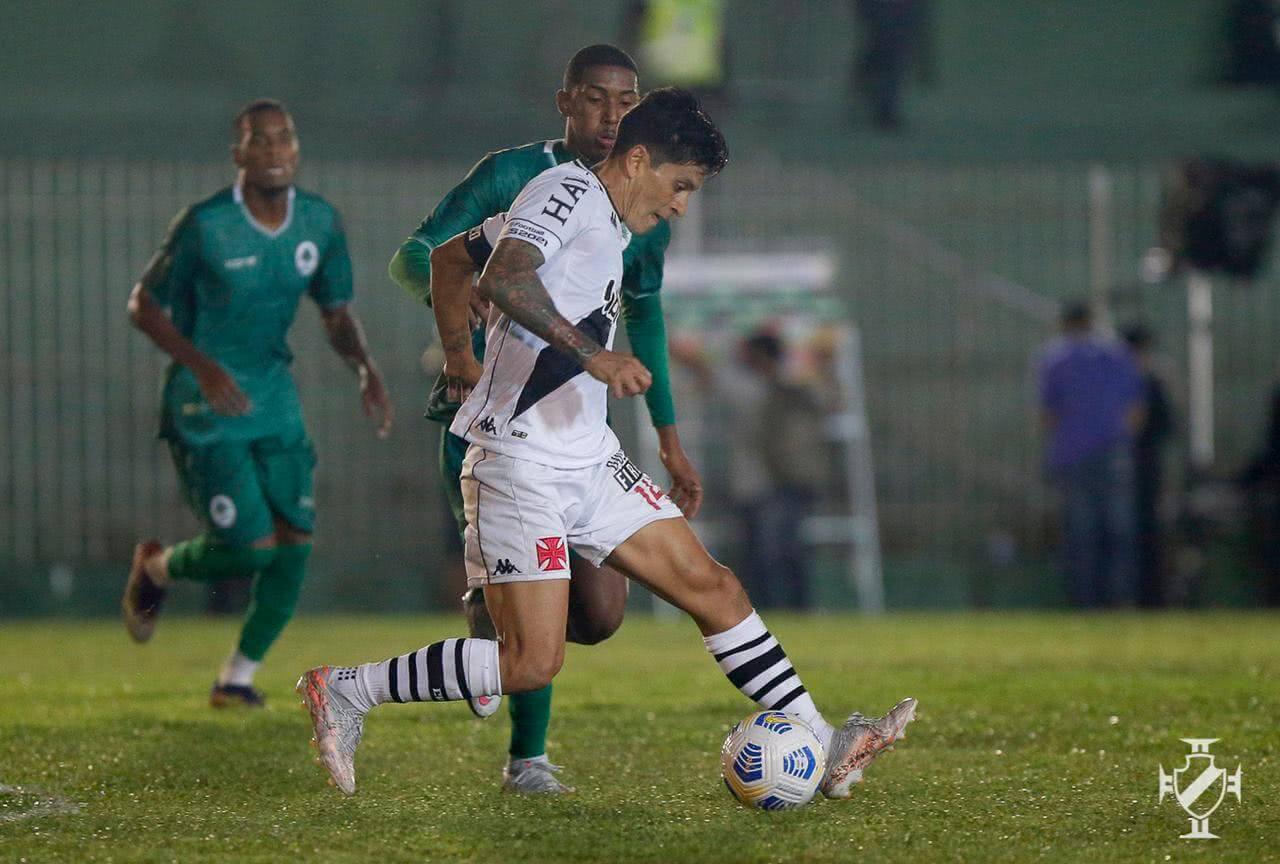 Germán Cano durante jogo contra o Boavista pela 3ª fase da Copa do Brasil 2021