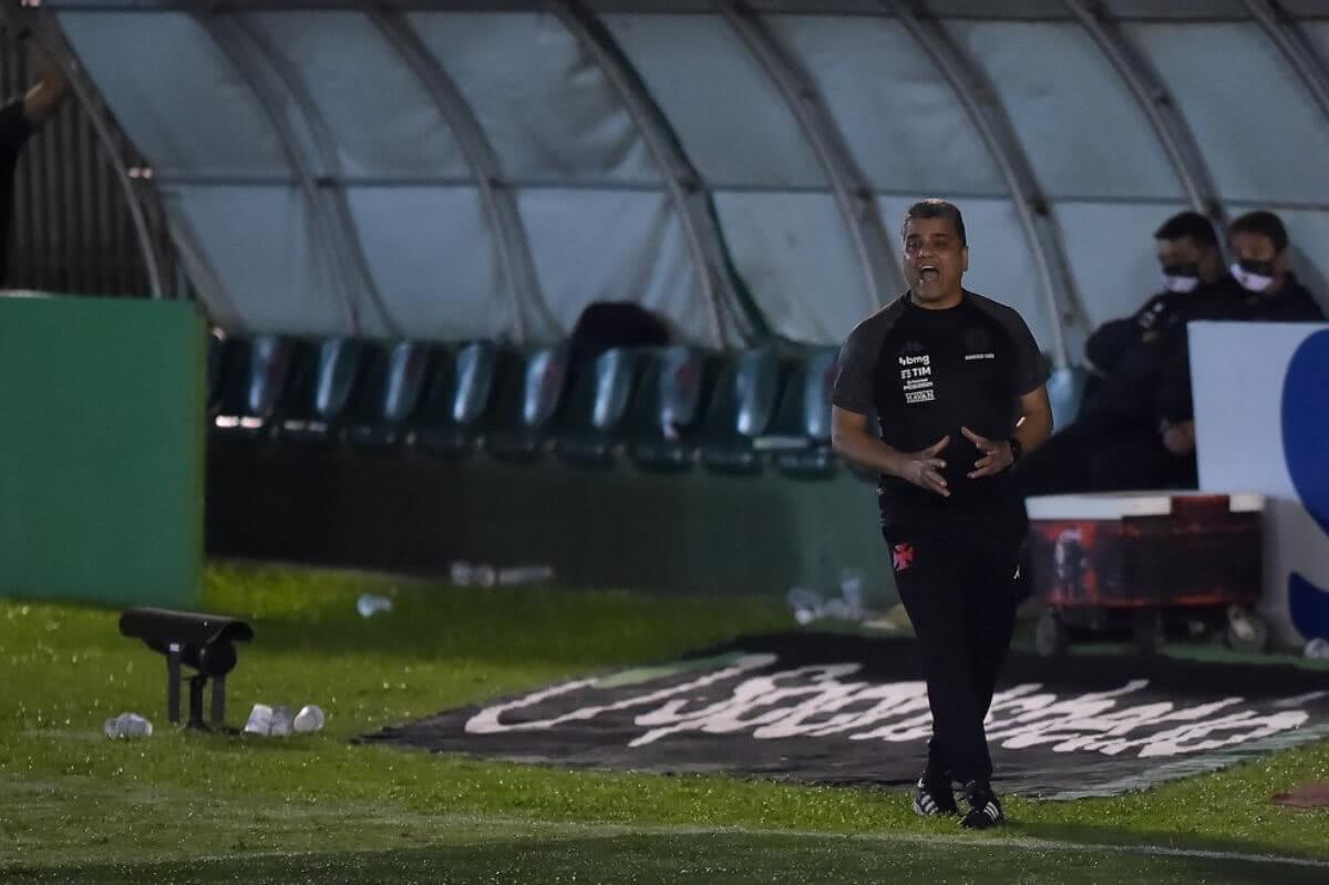 Marcelo Cabo durante o jogo contra o Boavista
