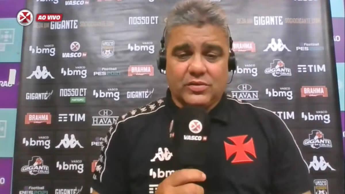 Marcelo Cabo em entrevista após derrota para o Cruzeiro