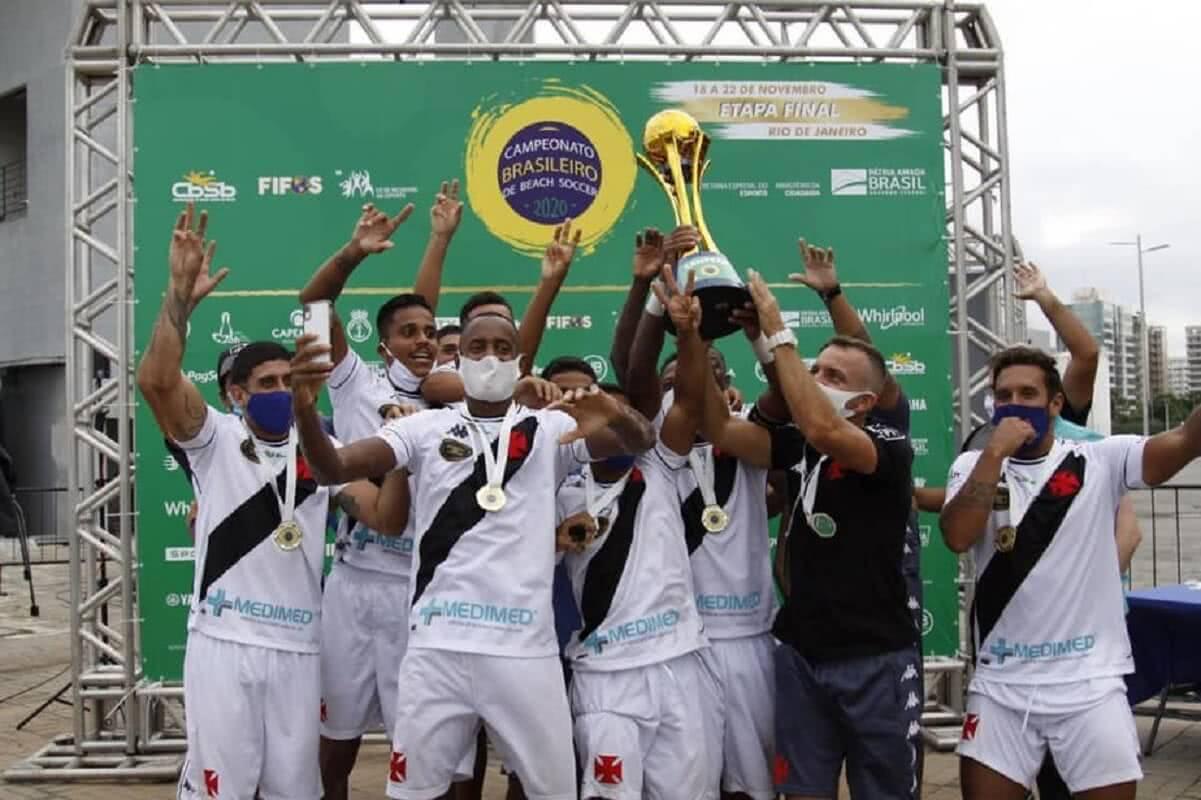 Vasco conquistou o Brasileiro de Beach Soccer em 2020