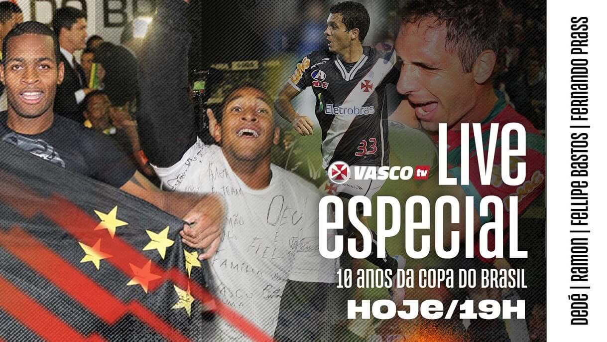 Dedé, Fellipe Bastos, Fernando Prass e Ramon estarão na Vasco TV