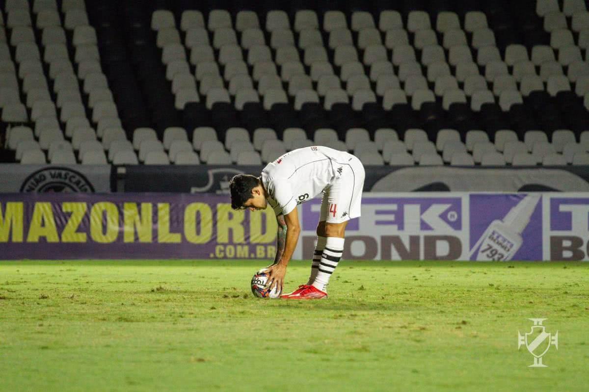 Cano fez o 2º gol do Vasco contra o Guarani de pênalti