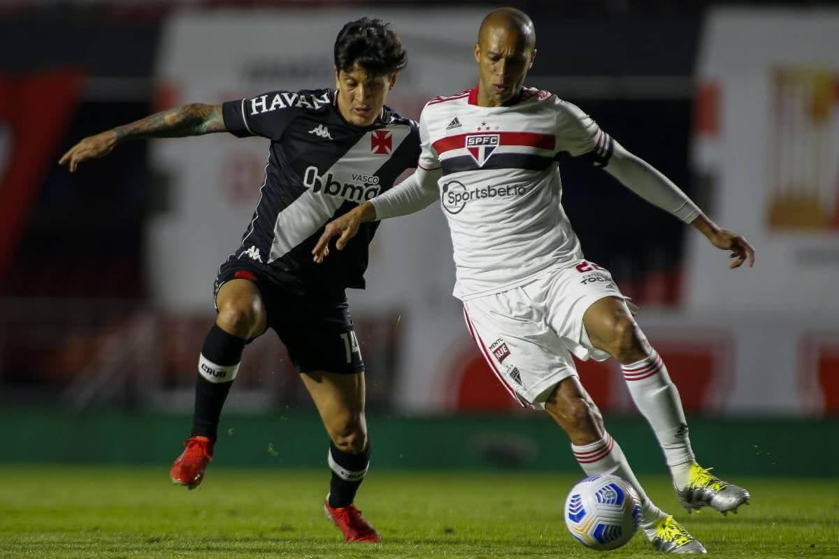 Germán Cano durante o jogo contra o São Paulo