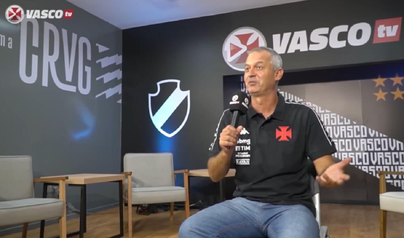 Técnico Lisca em entrevista exclusiva à Vasco TV