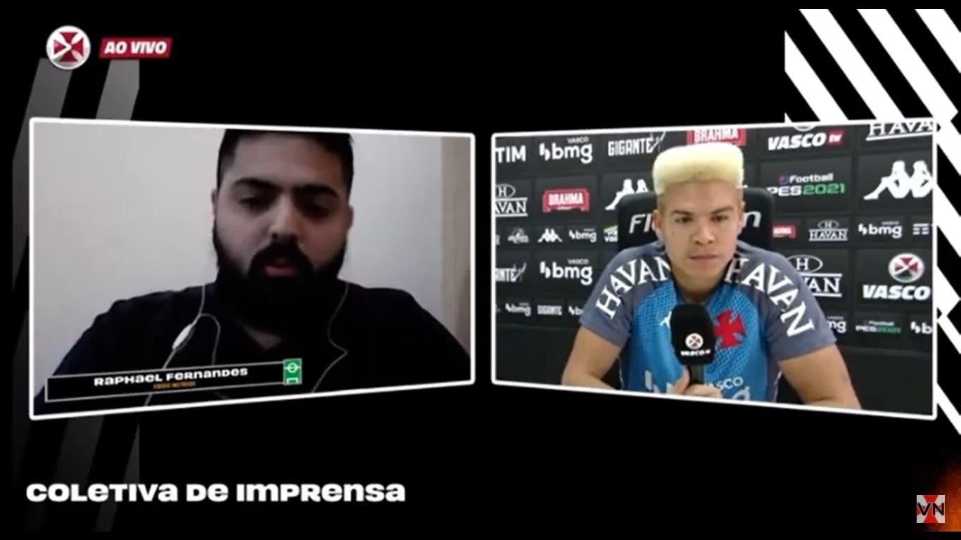 Marquinhos Gabriel responde pergunta do Vasco Notícias