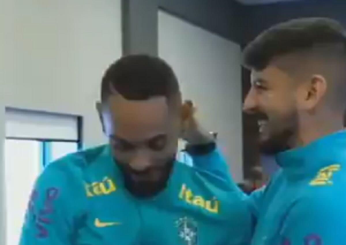 Matheus Cunha e Ricardo Graça na concentração da seleção olímpica