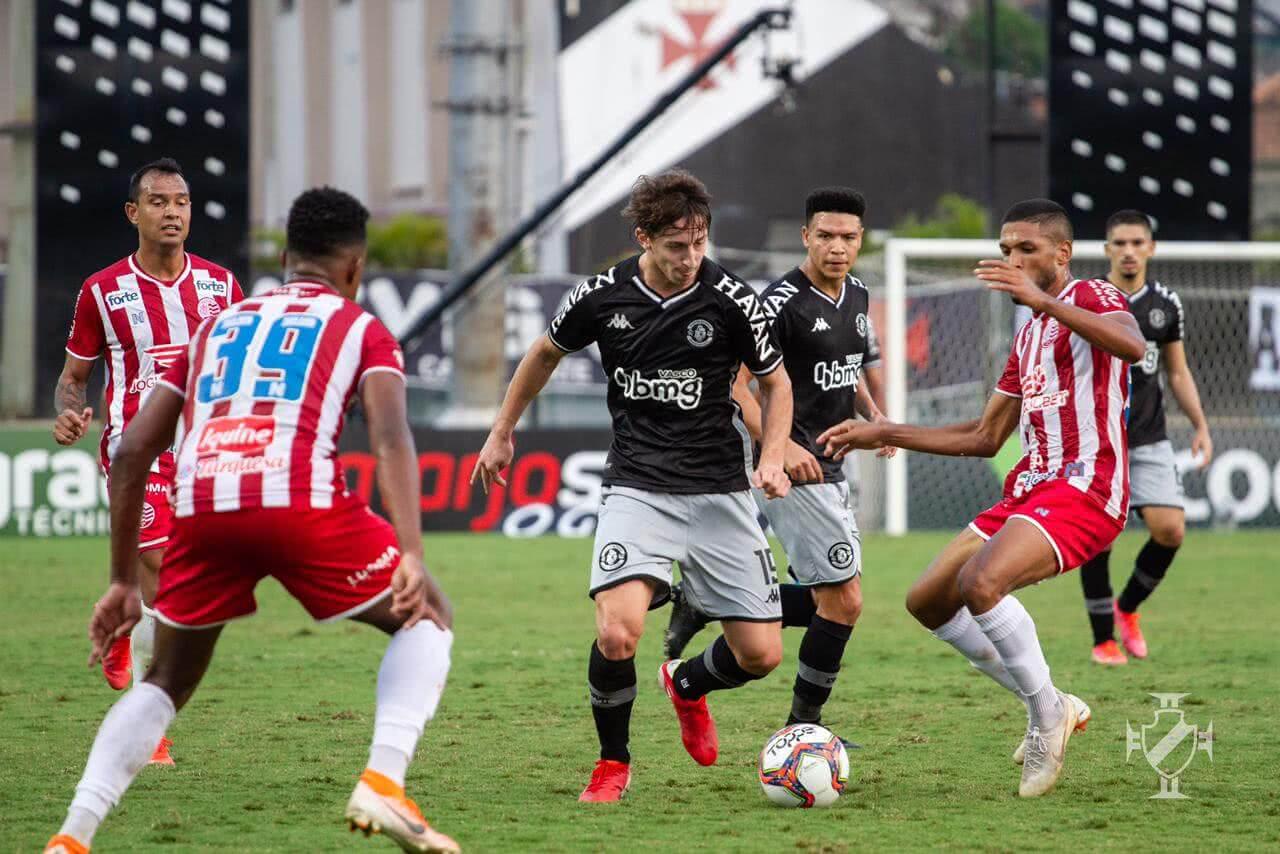 Matías Galarza durante o jogo contra o Náutico
