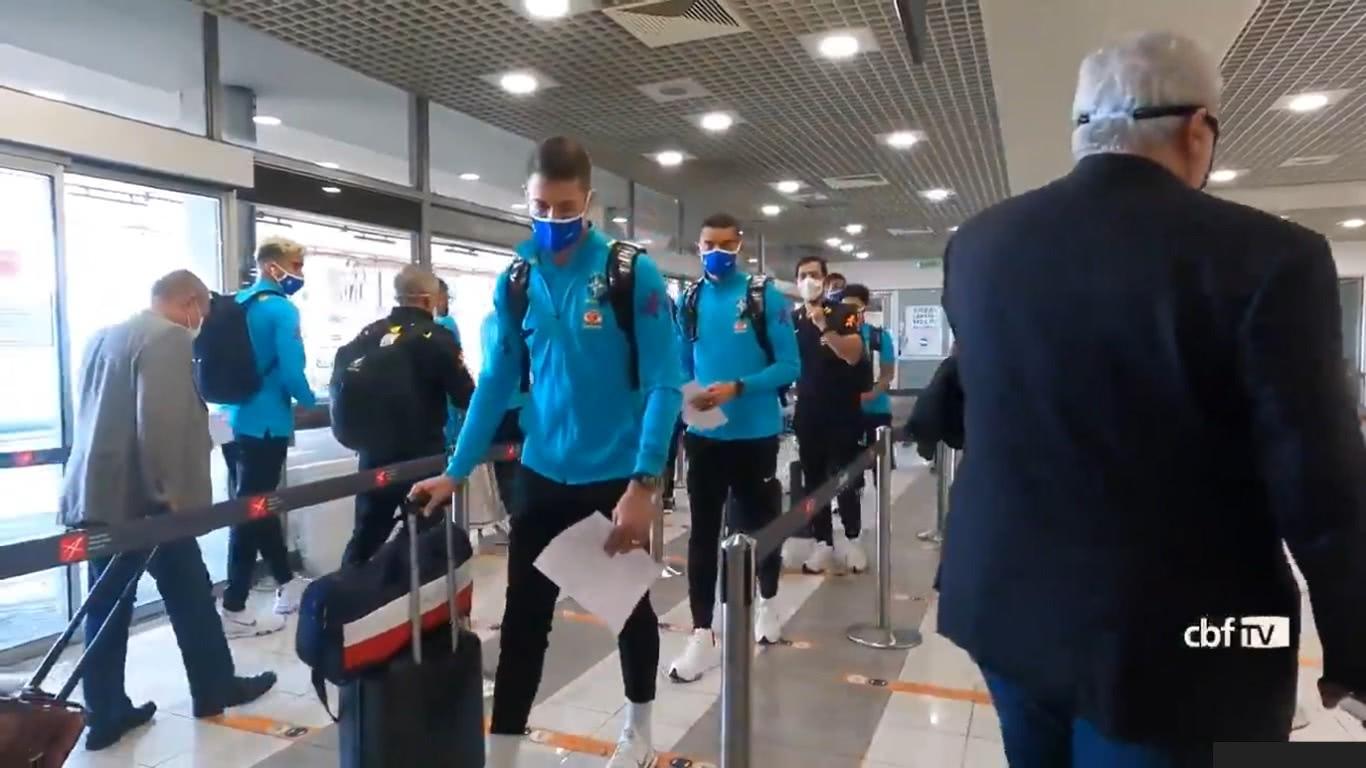 Seleção Olímpica desembarcou na Sérvia