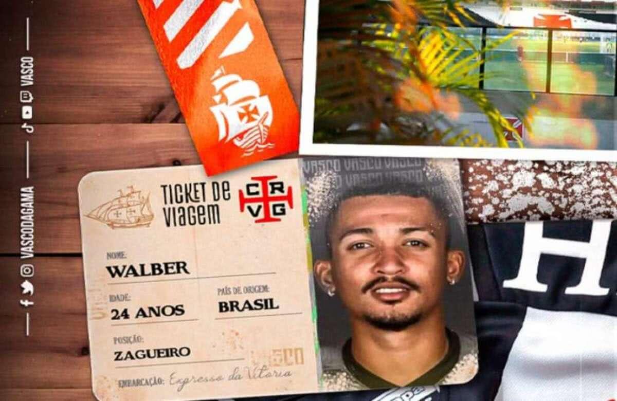Zagueiro Walber, novo zagueiro do Vasco da Gama