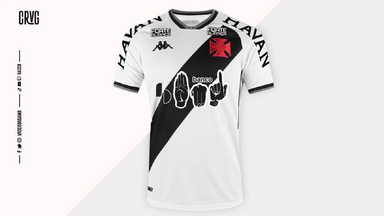 Camisa do Vasco sobre iniciativa para surdos