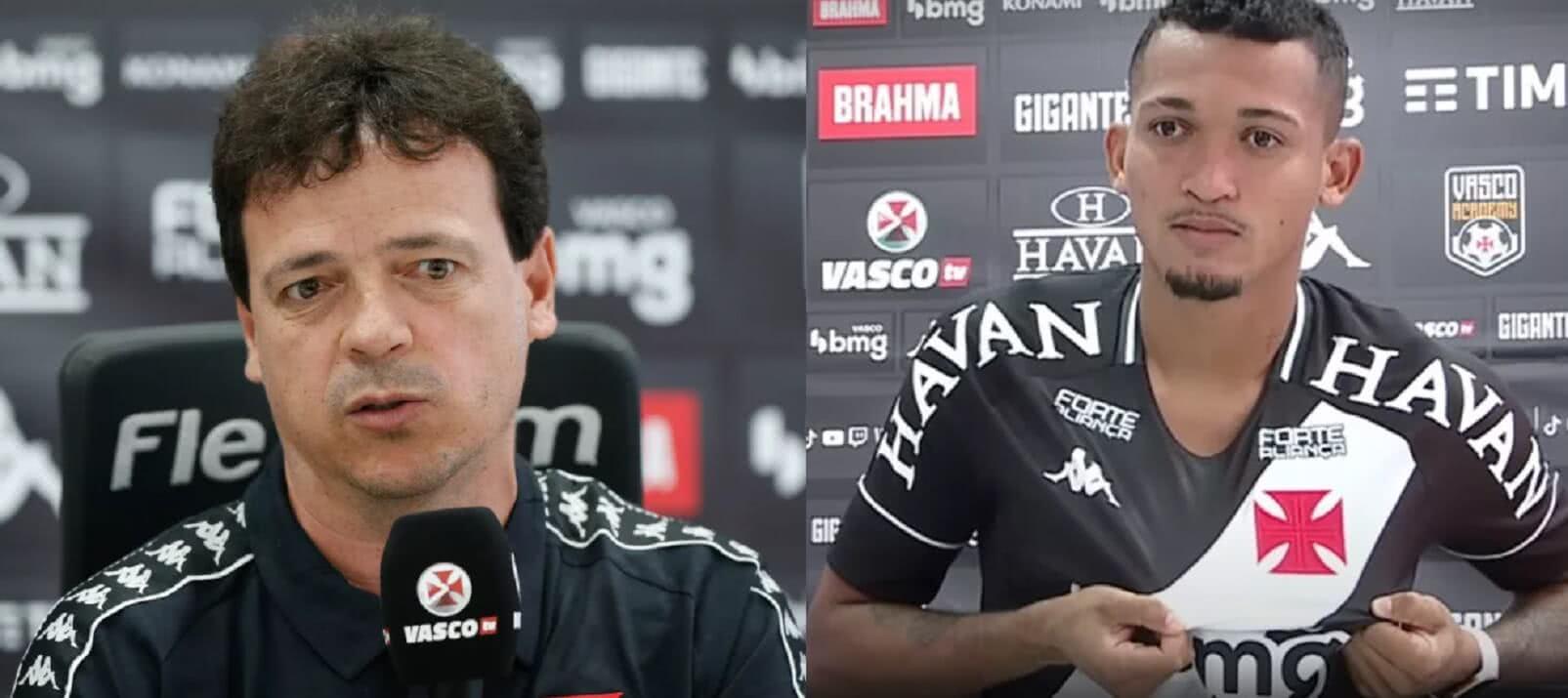 Fernando Diniz e Walber em apresentação no Vasco