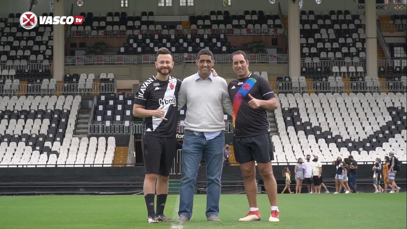 Fred, Luiz Mello e Edmundo em São Januário
