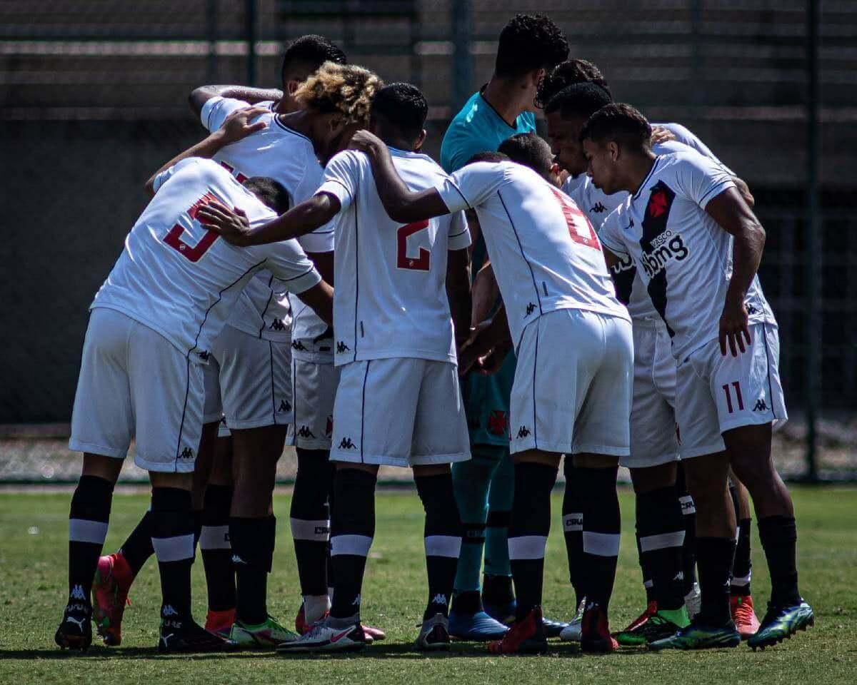 Jogadores o Vasco durante o jogo contra o Atlético-MG