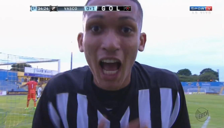Walber marcou contra o Vasco na Copinha de 2017